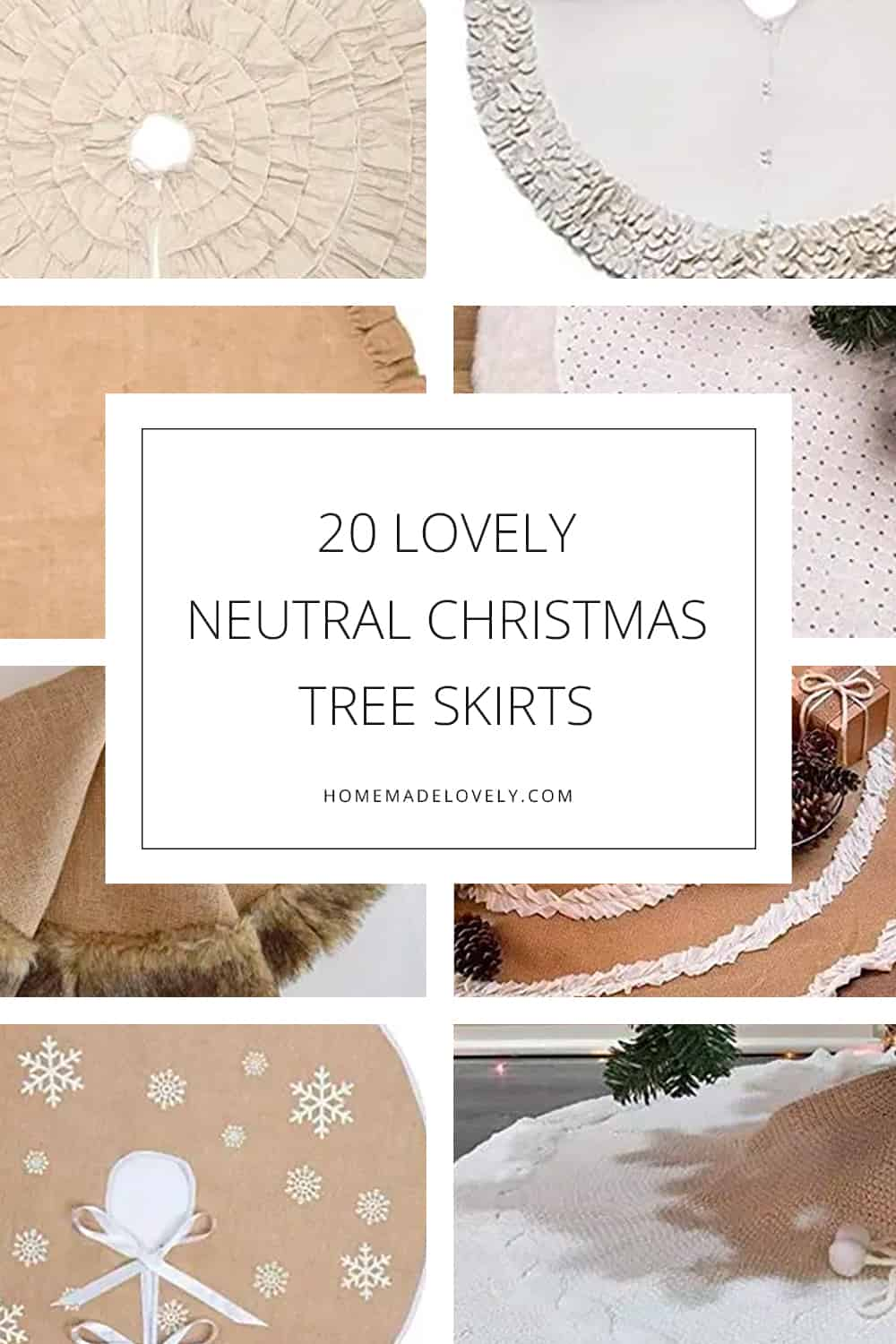 20 Lovely Neutral Christmas Tree Skirts to Go With Any Holiday Decor