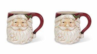 Vintage Santa Claus Design Christmas Mugs, Pack of 2