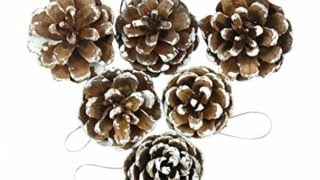 12Pcs Colorful Pine Cones Christmas Tree Hanging Ornament Decoration Foam Products Gifts For Yard Garden Home