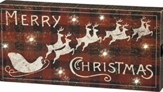 Primitives by Kathy Rustic LED Lighted Box Sign, Merry Christmas