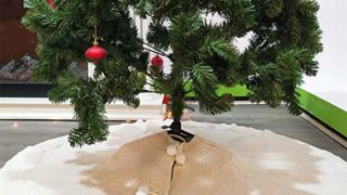 Knit Thick Rustic Xmas Tree Skirt