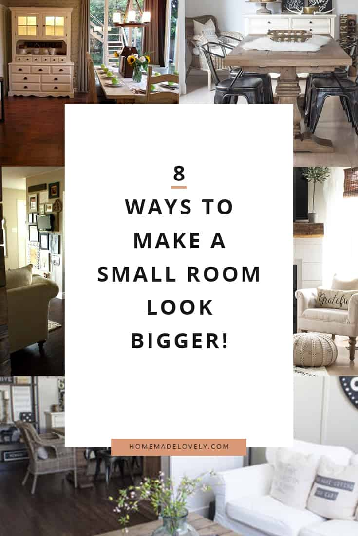 make a small room look larger