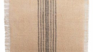 Jute/Burlap Table Runner, Stripe Mineral Grey