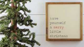 Have Yourself a Merry Little Christmas Framed Wooden Sign Rustic Christmas Sign Farmhouse Christmas Decor Rustic Christmas Decorations