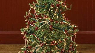 Jute Burlap Ruffled Christmas Holiday Tree Skirt