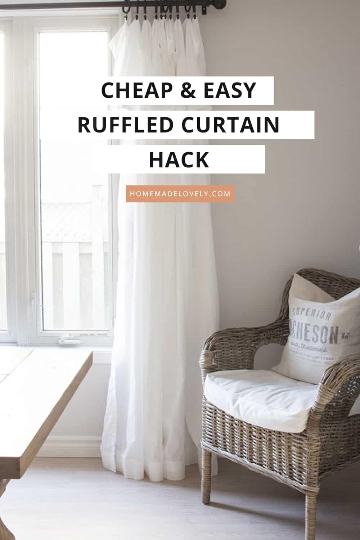 cheap ruffled curtain hack