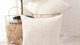 Corduroy Soft Decorative Square Throw Pillow Cover