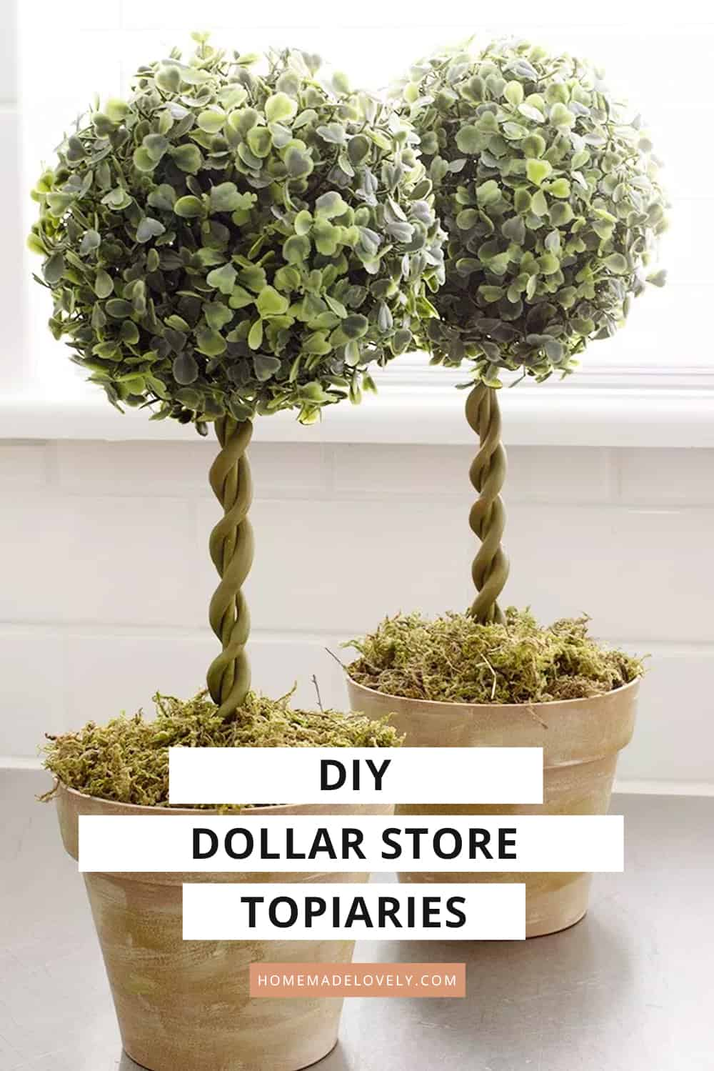 diy topiary trees dollar store