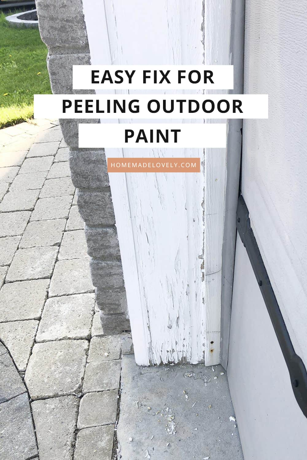 Solution for peeling outdoor paint