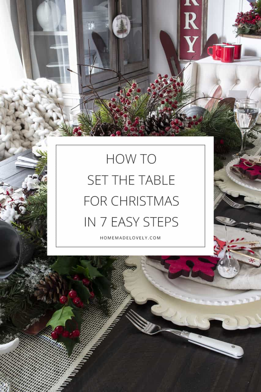 How To Set the Table For Christmas in 7 Easy Steps pin