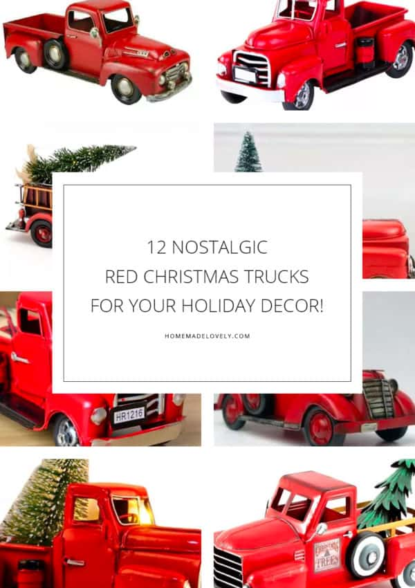 12 Nostalgic Red Christmas Trucks for Your Holiday Decor!