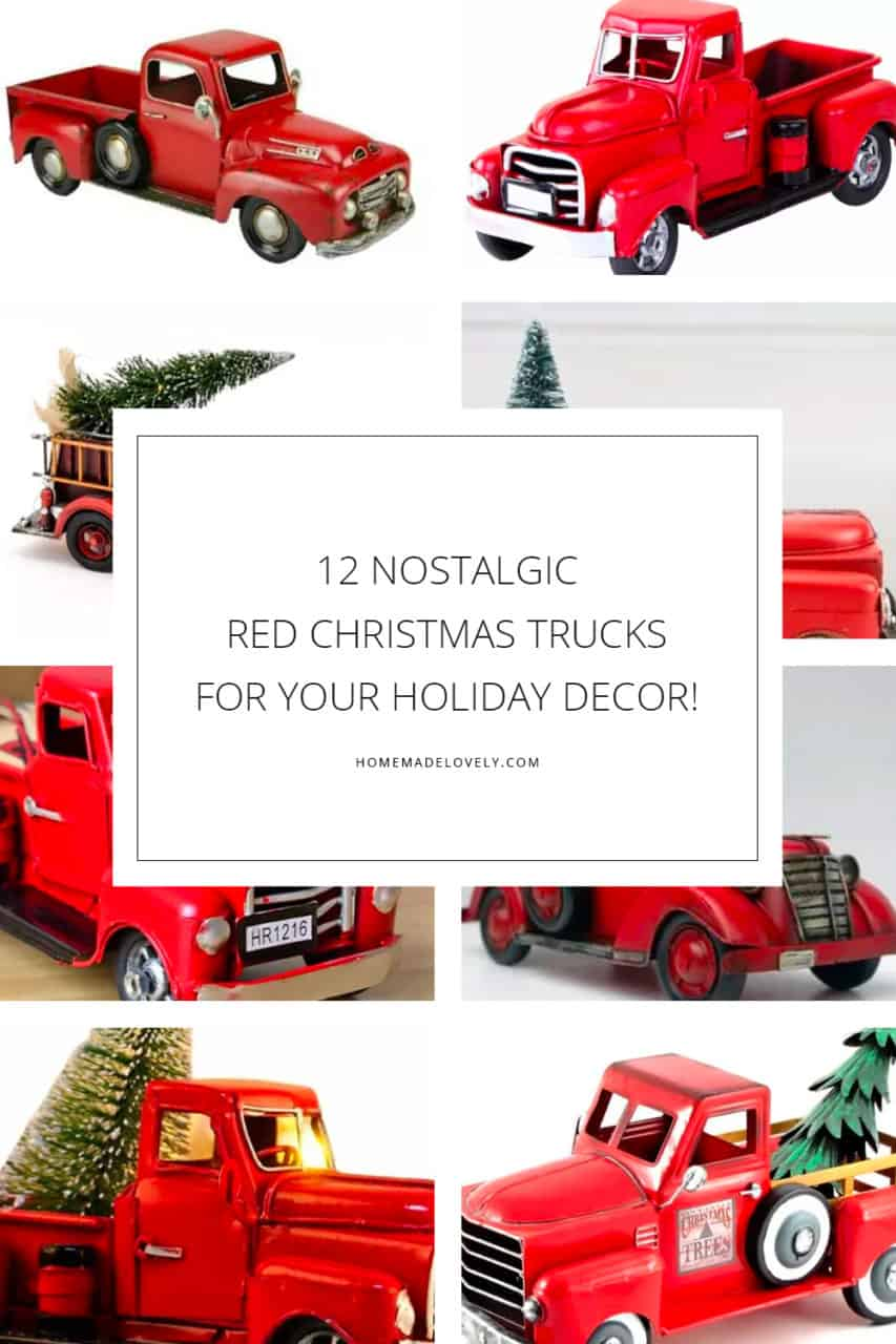 12 Nostalgic Christmas Tree Trucks for Your Holiday Decor