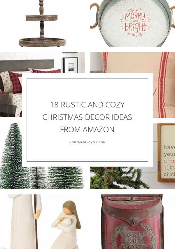 18 Rustic and Cozy Christmas Decor Ideas from Amazon