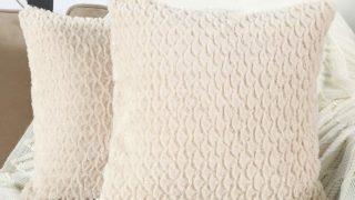 Soft Plush Short Wool Decorative Throw Pillow Covers