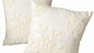 Cotton Christmas Blessing Throw Pillow Cover