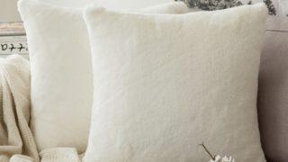 Super Soft Luxury Warm Series Plush Faux Rabbit Fur Decorative Throw Pillow