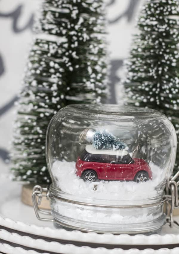 Make Your Own DIY Mini Cooper Snow Globe This Christmas