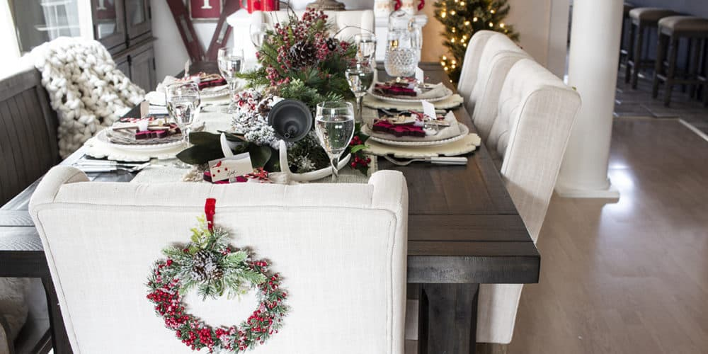 more farmhouse style in the suburbs holiday table