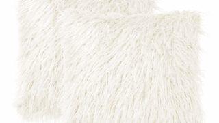 Shaggy Faux Fur Throw Pillow Cover