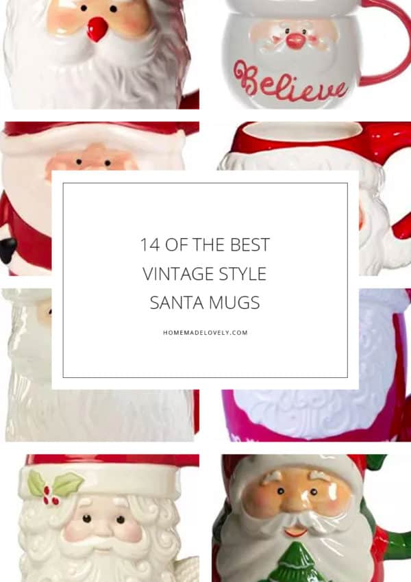 Where to Get 14 of The Best Vintage Style Santa Mugs