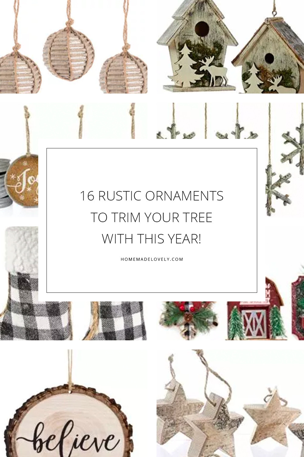 16 Rustic Christmas Ornaments