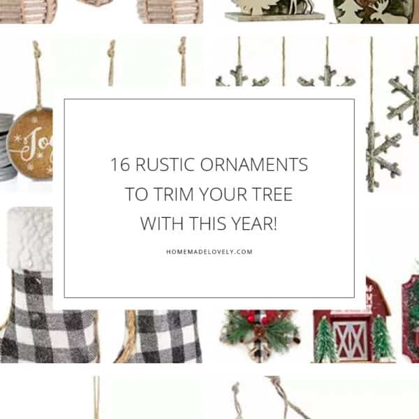 16 Rustic Christmas Ornaments