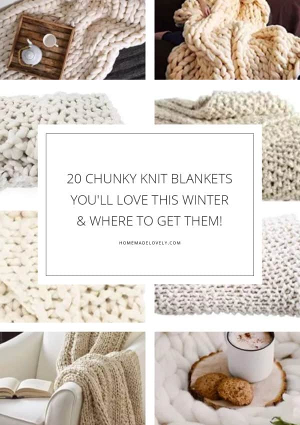 20 Chunky Knit Blankets You'll Love This Winter & Where to Get Them!