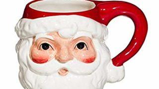Cypress Home Vintage Santa Ceramic Mug, 14 ounces