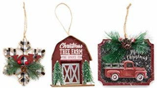 Rustic Farmhouse Decor Holiday Tree Ornaments