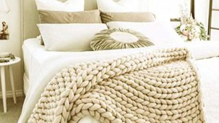 Soft Hand Knitted Blanket Sofa Bed Throw
