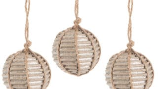 Corrugated Ball Ornaments - Small