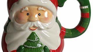 Santa With Tree Ceramic Hand-Painted 18 Oz Christmas Holiday Mug
