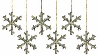 Birch Snowflake Christmas Ornament (6-Pack)