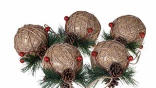Shatterproof Christmas Tree Ornaments with Pinecones and Berries