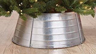 Decorative Metal Christmas Tree Ring - Galvanized
