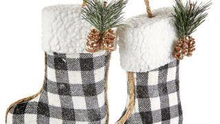 Plaid Stocking Ornament