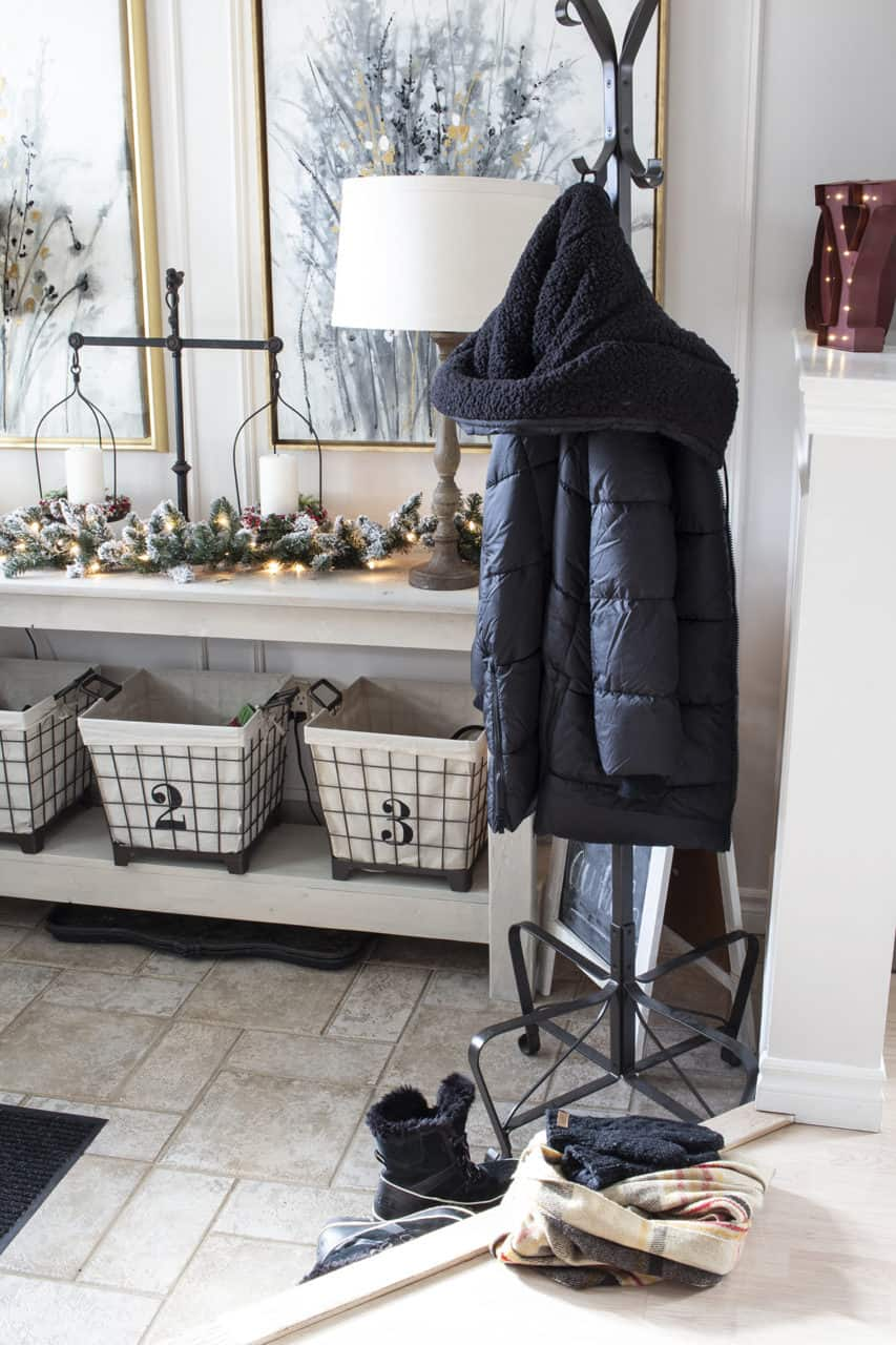 entryway with coat