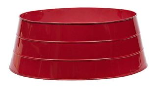 Red Glossy Metal Tree Collar