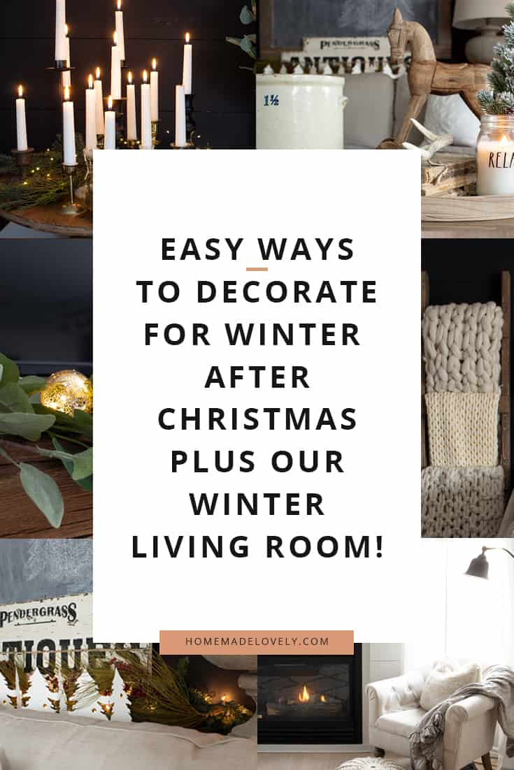 easy ways to decorate for winter after the holidays