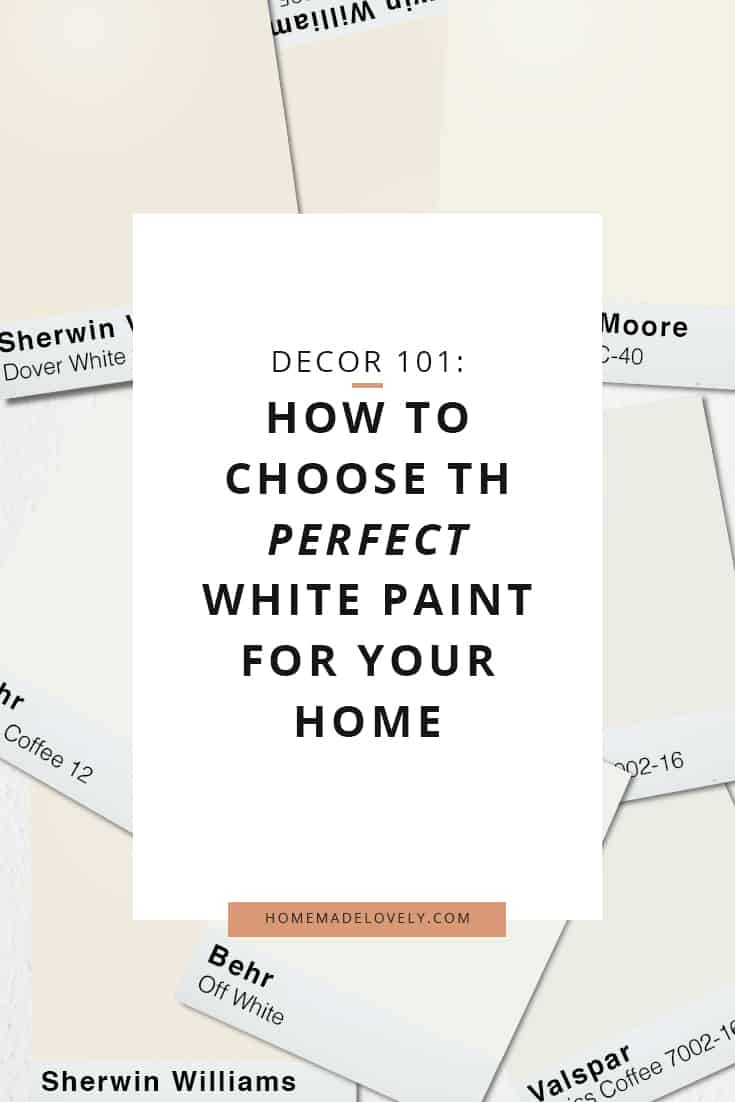 How to choose the perfect white paint