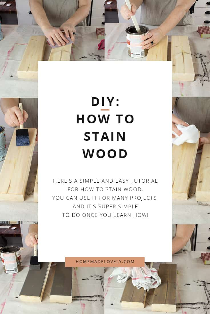 how to stain wood in a few simple steps