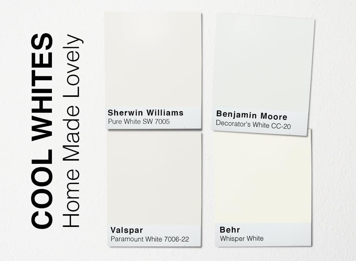 cool white paint swatches