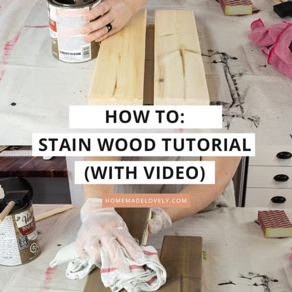 how to stain wood with video