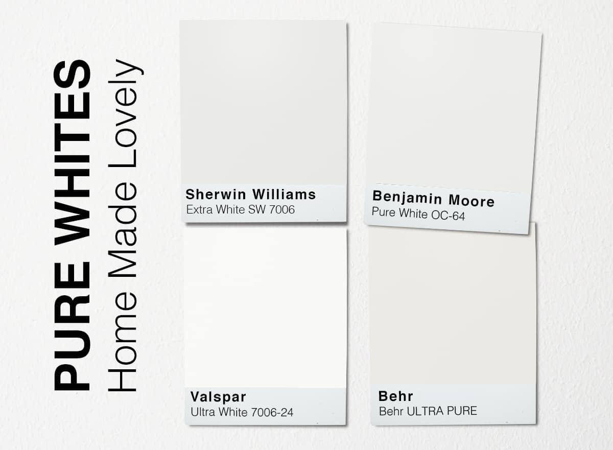 pure white paint swatches