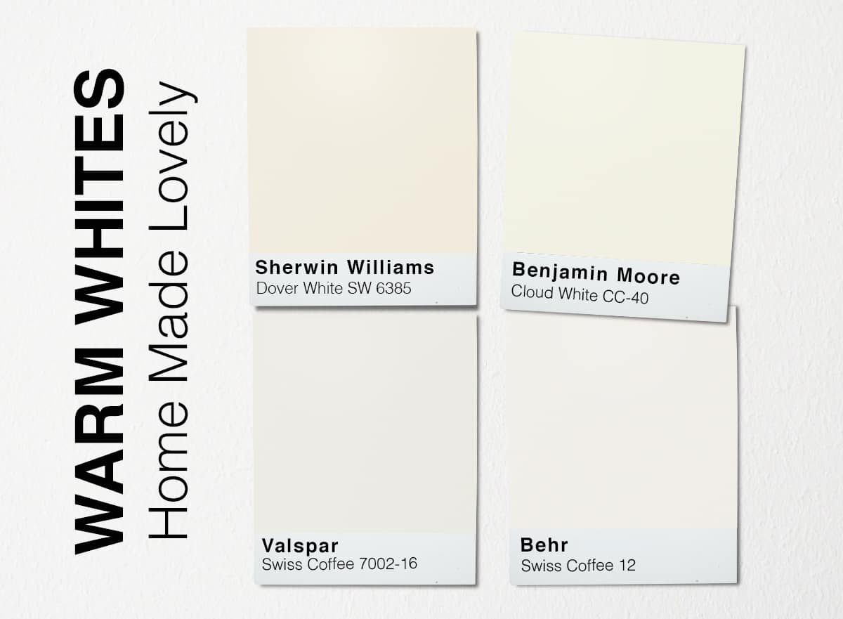 warm white paint swatches
