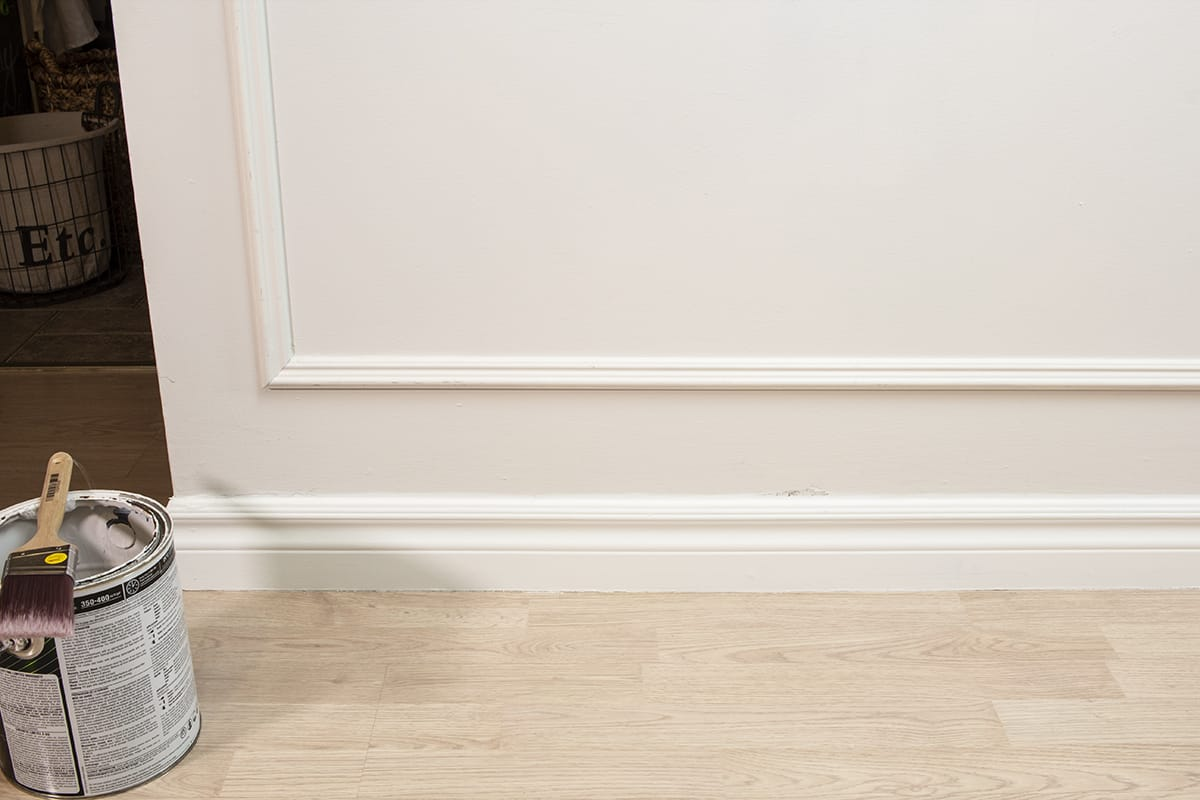 Painted baseboard trim