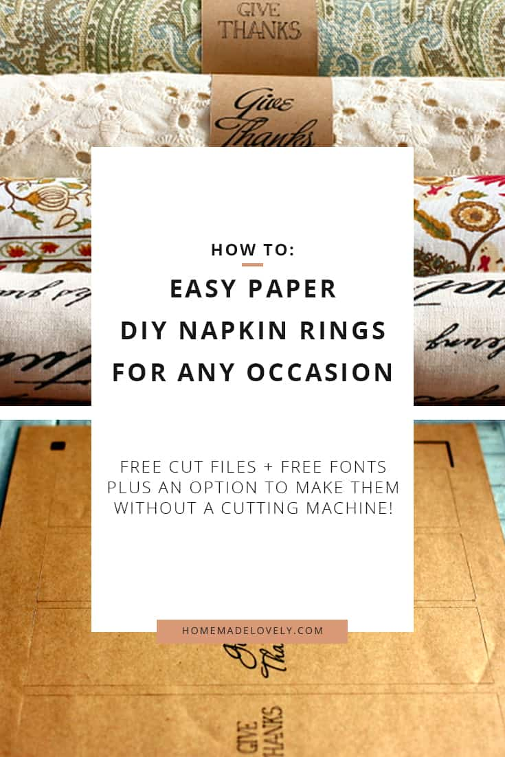 Easy Paper Diy Napkin Rings For Any Occasion Fonts Cut Files Printable Template