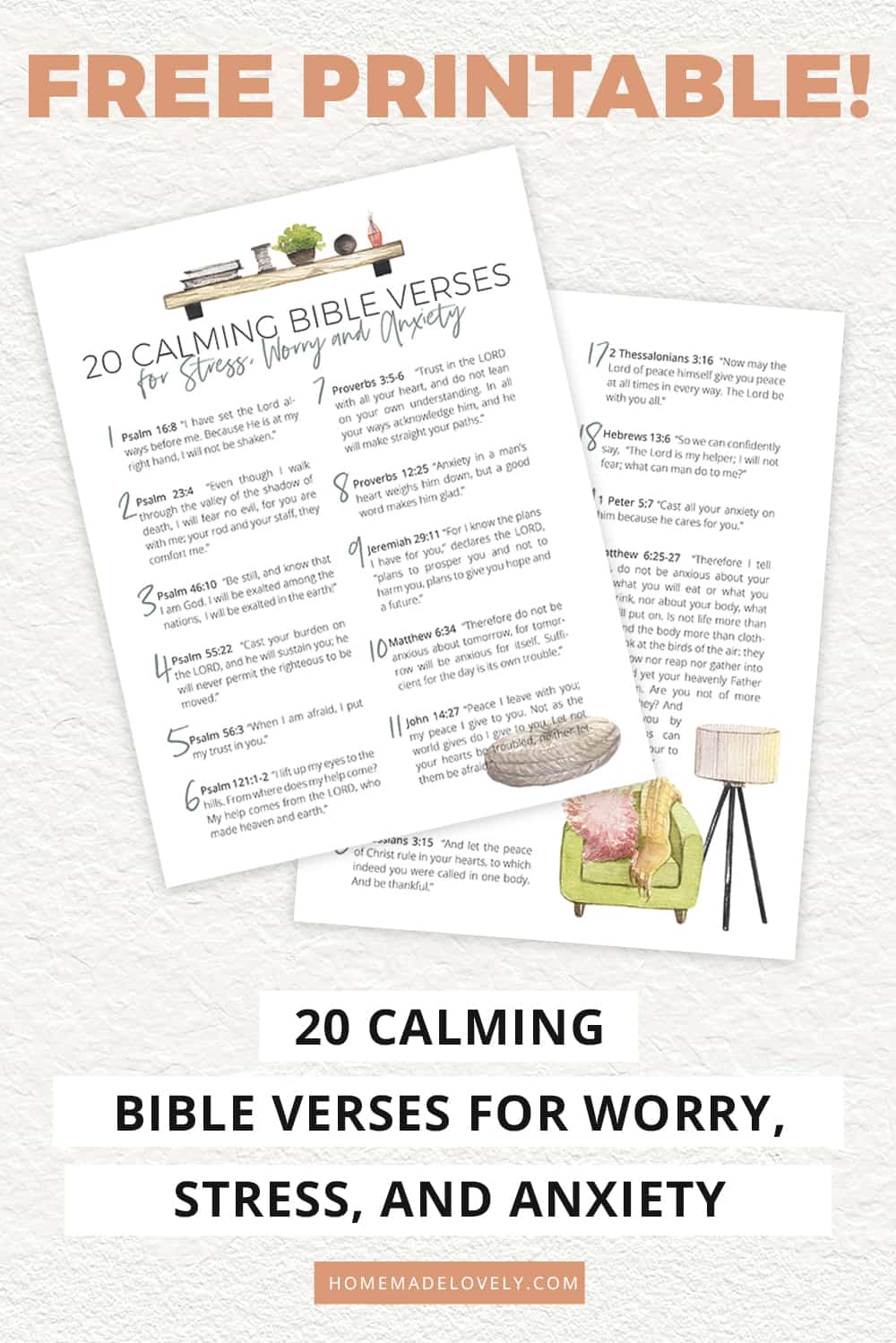 printable calming bible verses with text overlay description