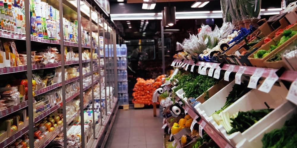 ethnic food store interior