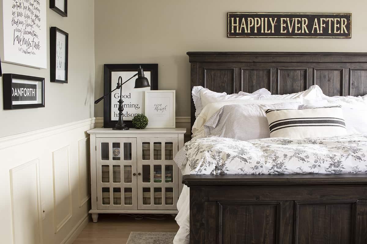 masculine master bedroom farmhouse style